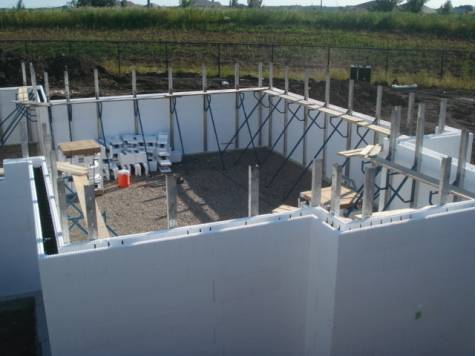 Insulated Concrete Form Foundation