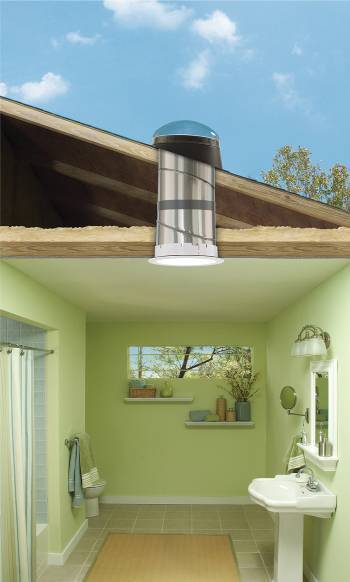Tubular Skylights Natural Light Fixture Without A Switch