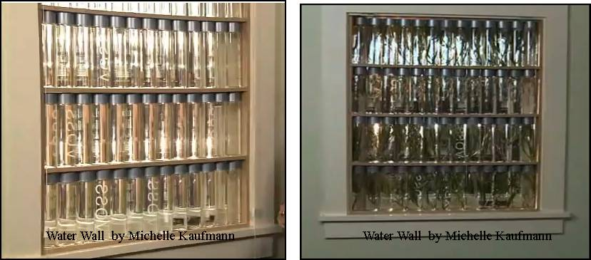 water wall serving as window insulation